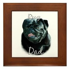 Pug Dad2 Framed Tile
