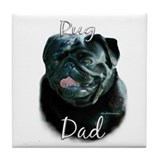 Pug Dad2 Tile Coaster