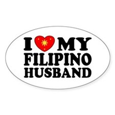 I Love my Filipino Husband Oval Decal