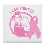Rosie I Can Fight It Tile Coaster