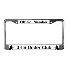 Official Member 34 & Under Clb License Plate Frame