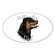 Rottweiler Dad2 Oval Decal