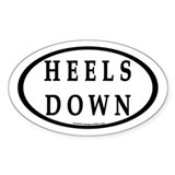 Heels Down (#4b) Euro Oval Car Oval Decal