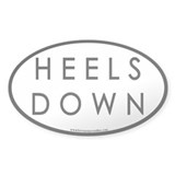 Heels Down (#3) Euro Oval Car Oval Decal