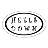 Heels Down (#2b) Euro Oval Car Oval Decal