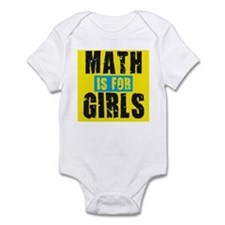 Math for girls Infant Bodysuit