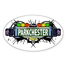 Parkchester (White) Oval Decal