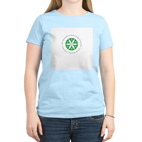 Yoga circular saying design Women's Light T-Shirt