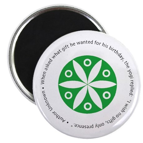 Yoga circular saying design Magnet