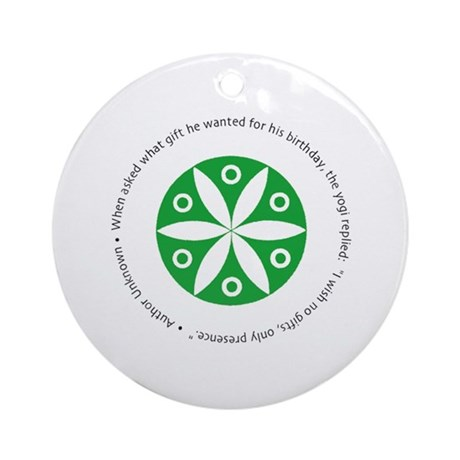 Yoga circular saying design Ornament (Round)
