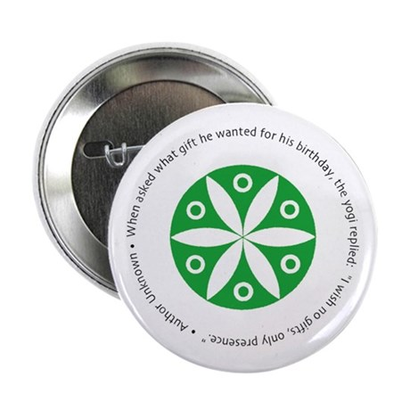 "Yoga circular saying design 2.25"" Button (10 pack)"