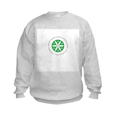Yoga circular saying design Kids Sweatshirt
