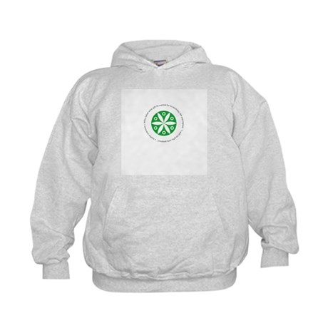Yoga circular saying design Kids Hoodie