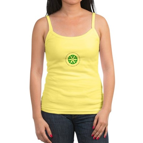 Yoga circular saying design Jr. Spaghetti Tank