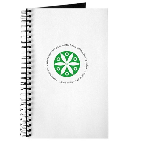 Yoga circular saying design Journal