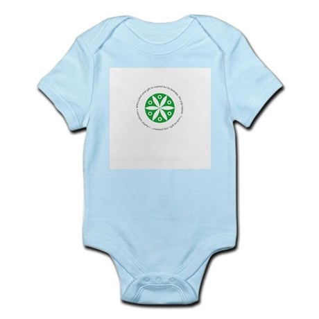 Yoga circular saying design Infant Bodysuit