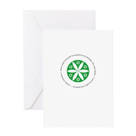 Yoga circular saying design Greeting Card