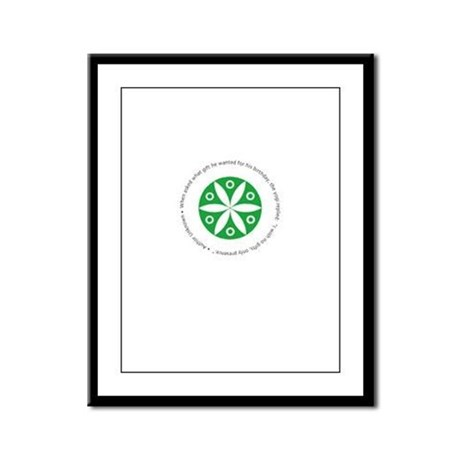 Yoga circular saying design Framed Panel Print