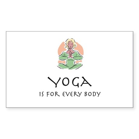 Yoga for every body Rectangle Sticker