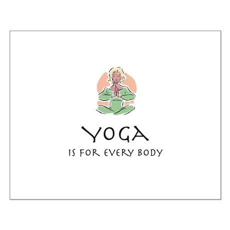 Yoga for every body Small Poster