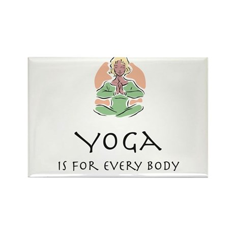 Yoga for every body Rectangle Magnet (10 pack)