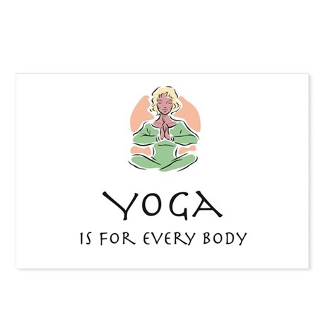 Yoga for every body Postcards (Package of 8)