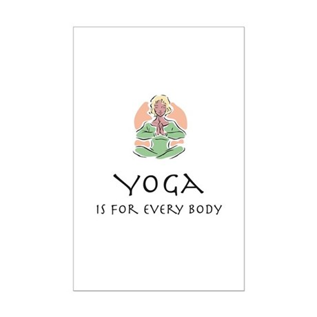 Yoga for every body Mini Poster Print