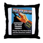 Itchy Inky Finger Throw Pillow