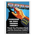 Itchy Inky Finger Small Poster