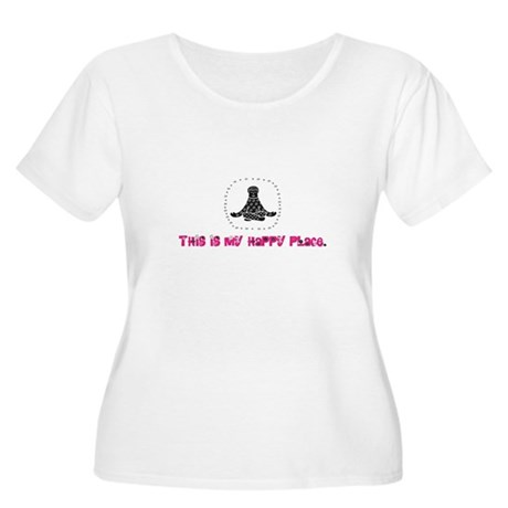 Yoga Happy Place Women's Plus Size Scoop Neck T-Sh