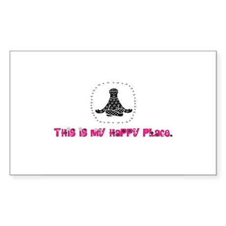 Yoga Happy Place Rectangle Sticker