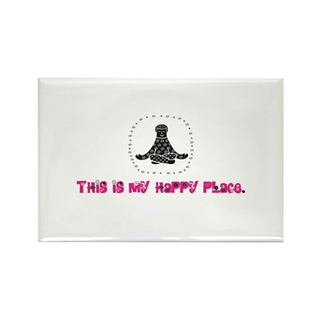 Yoga Happy Place Rectangle Magnet (100 pack)