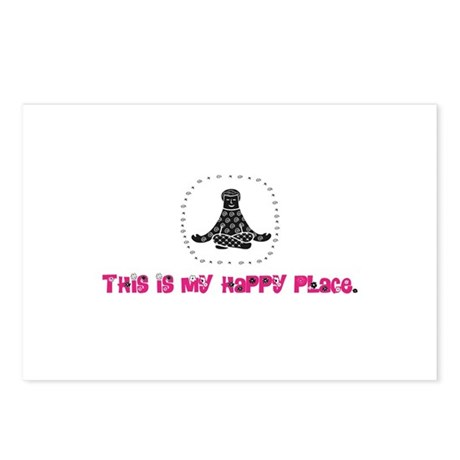 Yoga Happy Place Postcards (Package of 8)