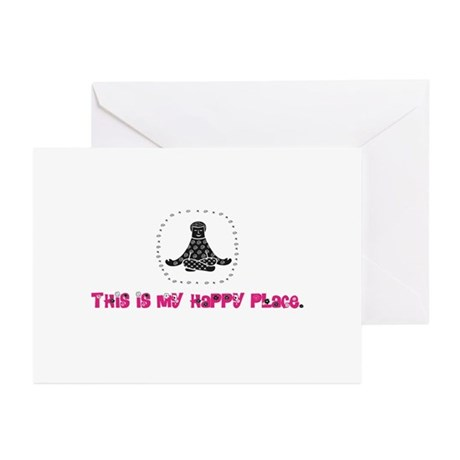 Yoga Happy Place Greeting Cards (Pk of 20)