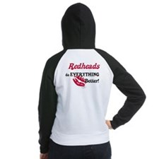 Redheads do EVERYTHING better Women's Raglan Hoodi