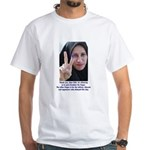 Two Fingers Thanks USA White T-Shirt