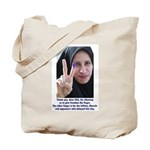 Two Fingers Thanks USA Tote Bag