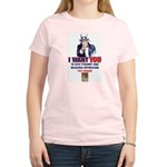 Give Tyranny the Finger Women's Pink T-Shirt