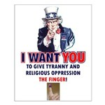 Give Tyranny the Finger Small Poster