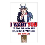Give Tyranny the Finger Postcards (Package of 8)