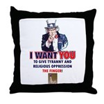 Give Tyranny the Finger Throw Pillow