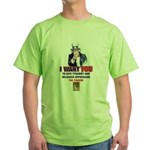 Give Tyranny the Finger Green T-Shirt