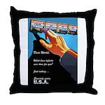Dear World Throw Pillow