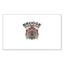 Brugge, Belgium Rectangle Decal