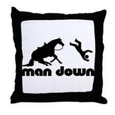 man down reiner Throw Pillow