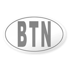 BHUTAN Oval Decal