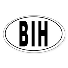 BOSNIA AND HERZEGOWINA Oval Decal