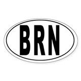 BRUNEI DARUSSALAM Oval Decal