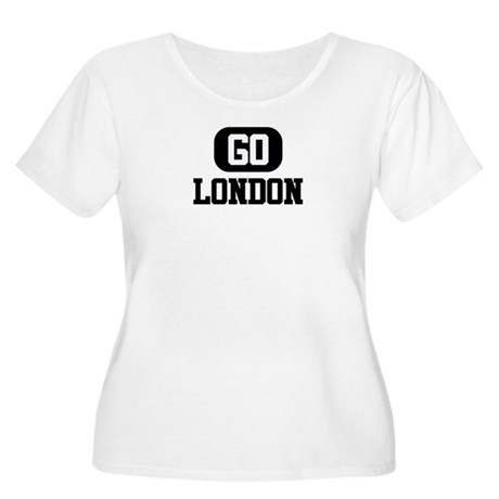 GO LONDON Women's Plus Size Scoop Neck T-Shirt