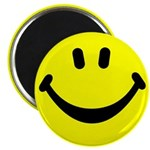 "Happy Face 2.25"" Magnet (10 pack)"